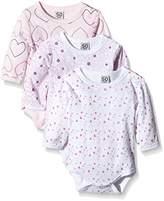Care Baby Girls Bodysuit, Longsleeve, 3-Pack,6 - 9 Months