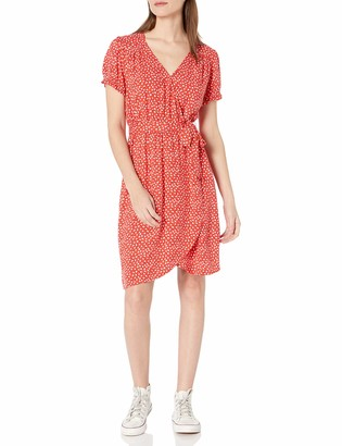Goodthreads Fluid Twill Wrap Dress
