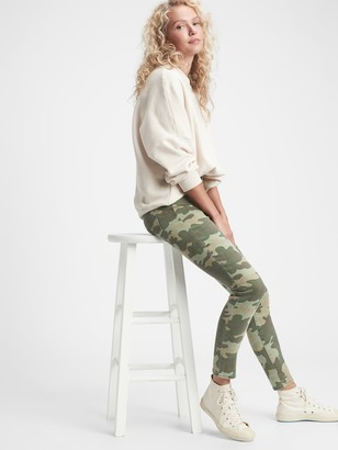 Gap High Rise True Skinny Camo Jeans