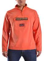 Napapijri Men's Orange Cotton Sweatshirt.