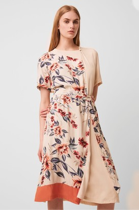 French Connection Claribel Belted Drape Dress