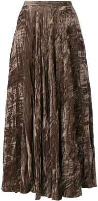 Crushed Velvet Maxi Skirt
