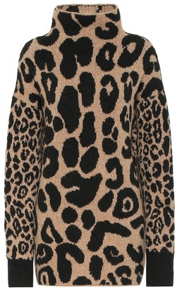 Stella McCartney Leopard-print cotton and alpaca-blend sweater