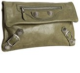 Balenciaga green lambskin 'Giant Envelope' clutch
