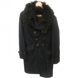 Yves Salomon Blue Fur Coat for Women