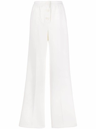 Courreges High-Rise Wide-Leg Trousers