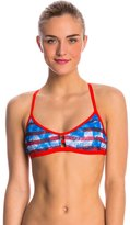 Speedo Champs & Stripes Printed Fixed Back Top 8136807