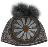 Le Chapeau embroidered floral beanie