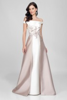 Terani Evening - Sophisticated Floral Embroidered Off The Shoulder A-line Gown 1721M4702