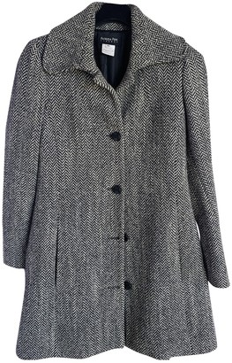Patrizia Pepe Anthracite Wool Coat for Women