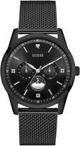 GUESS Men's Black Sleek Diamond Watch