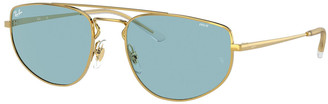 Ray-Ban Metal Aviator Sunglasses with Evolve Lenses