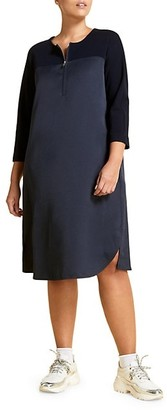 Marina Rinaldi, Plus Size Dadaismo Colorblock Satin Tunic Dress