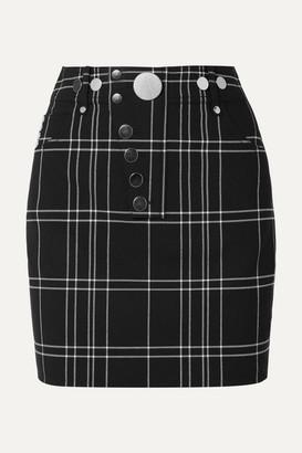 Alexander Wang Checked Woven Mini Skirt - Black