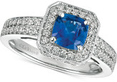LeVian Le Vian® Sapphire (1 ct. t.w.) and Diamond (1/2 ct. t.w.) Ring in 14k White Gold