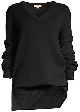 Michael Kors Women's Asymmetric Cashmere V-Neck Sweater