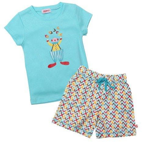 Zutano Girls 2-6X Toddler Juggling Cap Sleeve Tee and Drawstring Short Set