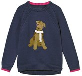Joules Navy Dog Intarsia Jumper