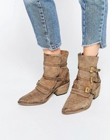 Free People Mason Taupe Suede Western Boots
