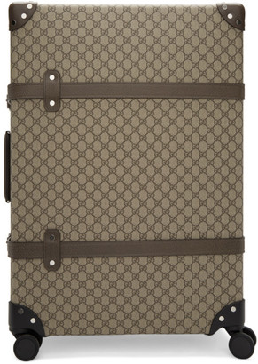 Gucci Beige Globe-Trotter Edition Large GG Suitcase