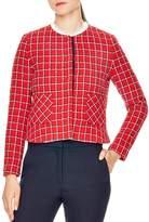 Sandro Stessy Printed Crop Jacket