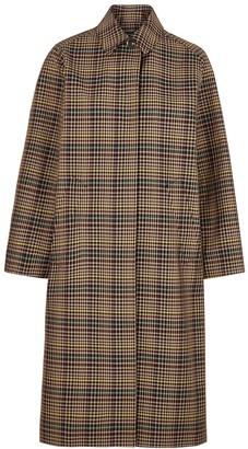 soeur Lettonie Checked Twill Coat
