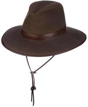 Dorfman Pacific Men's Oil Cloth Safari Hat