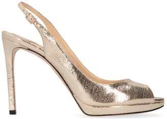 Jimmy Choo Nova 100 Metallic Leather Sandals