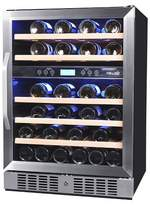 NewAir 46 Bottle Front-Venting Wine Cooler - Stainless Steel AWR-46ODB