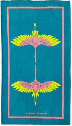 La Serviette Paris Heron Beach Towel, Turquoise