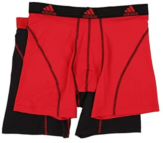 adidas Sport Performance ClimaLite 2-Pack Boxer Brief (Black/Black/Black/Black) Men's Underwear