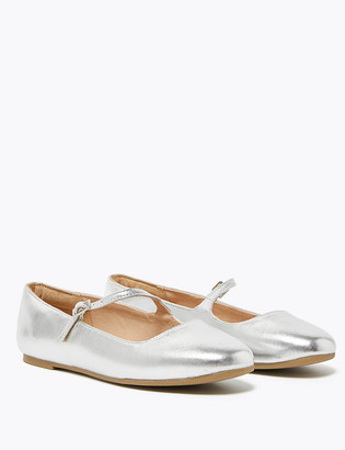 Marks and Spencer Kids' Metallic Strappy Ballet Pumps (13 Small - 6 Large)