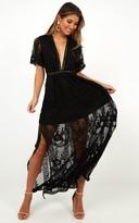 Showpo Love Spell Maxi dress in black lace - 18 (XXXL) Dresses