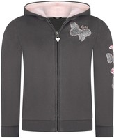 GUESS Charcoal Butterfly Zip Up Top