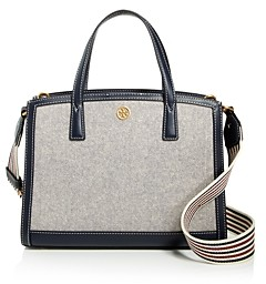 Tory Burch Walker Small Canvas Satchel