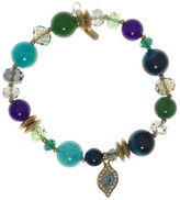 lonna & lilly Evil Eye Charm Beaded Stretch Bracelet