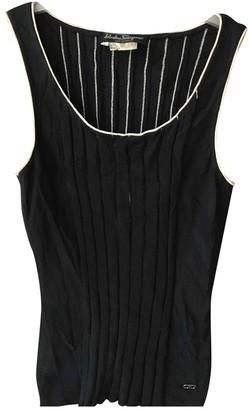 Salvatore Ferragamo Black Cotton Top for Women Vintage