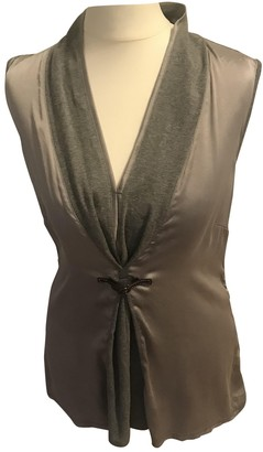 Nice Connection Grey Silk Top for Women