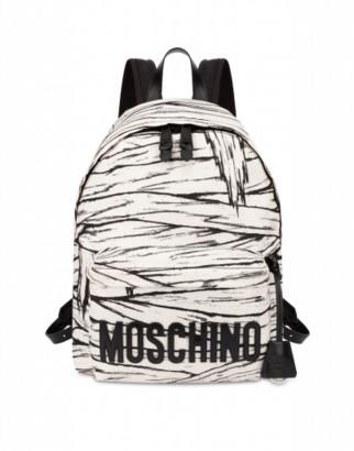 Moschino Mummy Big Backpack Woman White Size U It - (one Size Us)