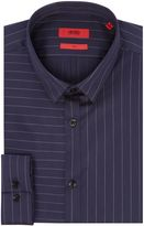 Hugo Ero Slim Pinstripe Diagonal Shirt