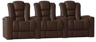 Home Theater Row Seating (Row of 3) Latitude Run Body Fabric: Classic Cappucino