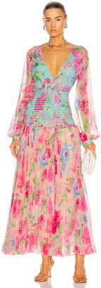 Rococo Sand Alora Pleated Maxi Dress in Multi | FWRD