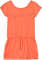 Cyrillus Coral Pom Pom Drop Waist Jersey Dress