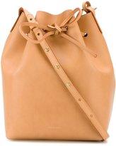 Mansur Gavriel drawstring bucket cross body bag - women - Leather - One Size