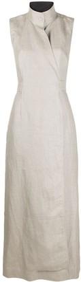 Ganni Wrap-Around Midi Dress