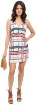 BB Dakota Filbert Tie-Dye Plaid Dress