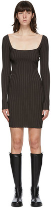 Helmut Lang Brown Strapped Mini Dress