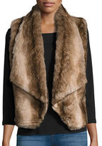 BB Dakota Open-Front Faux Fur Vest