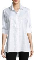 Berek Sequined-Front Easy Shirt