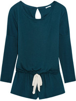 Eberjey Heather Jersey Playsuit - Teal